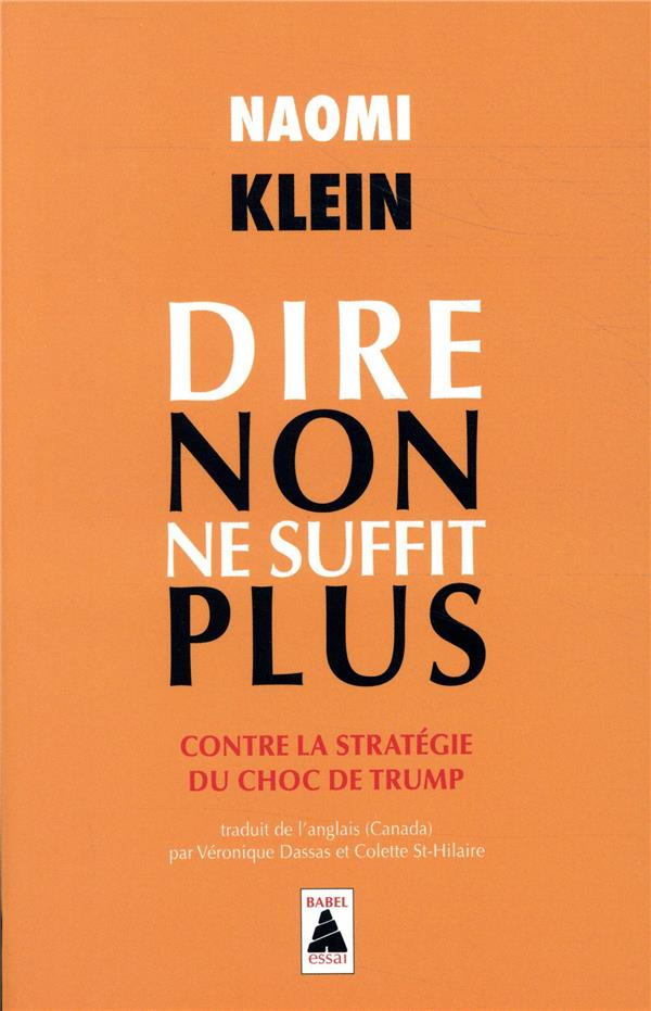 DIRE NON NE SUFFIT PLUS  -  CONTRE LA STRATEGIE DU CHOC DE TRUMP